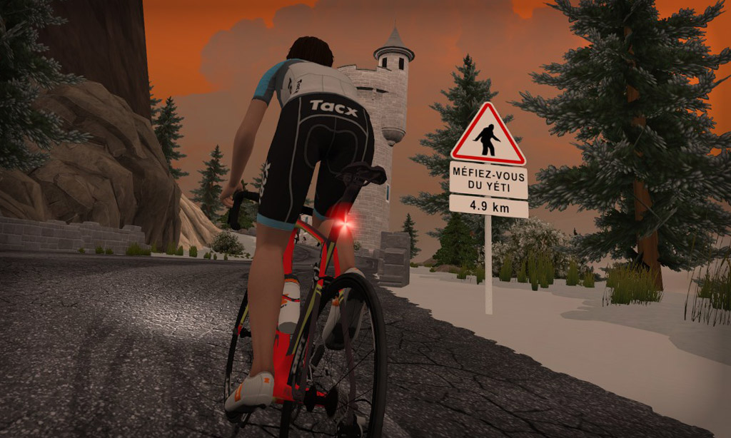 Have You Seen the Yeti on Alpe du Zwift?