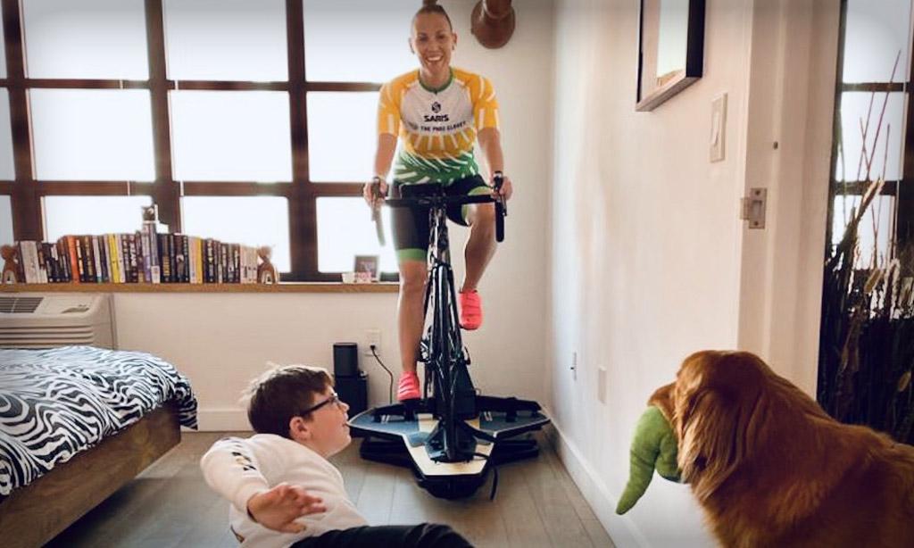Pedaling Through Parenthood on Zwift