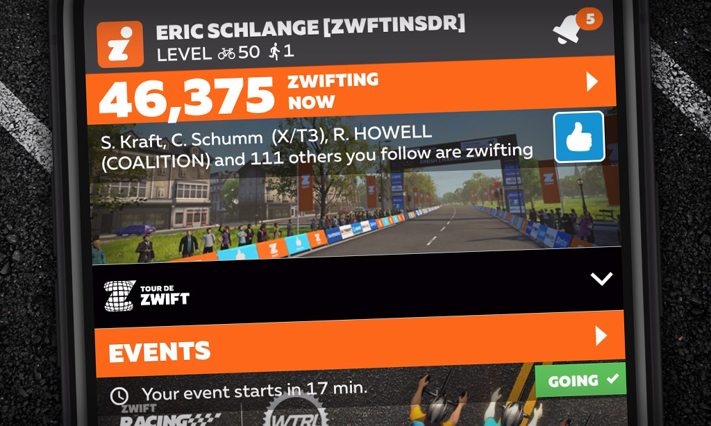 "New ""Peak Zwift"" Achieved: 46,375"