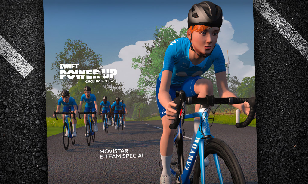 Movistar E-Team Special with JP Molinero (Zwift PowerUp Cycling Podcast)