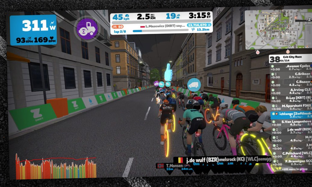 Misused Zwift Powerups: The Steamroller