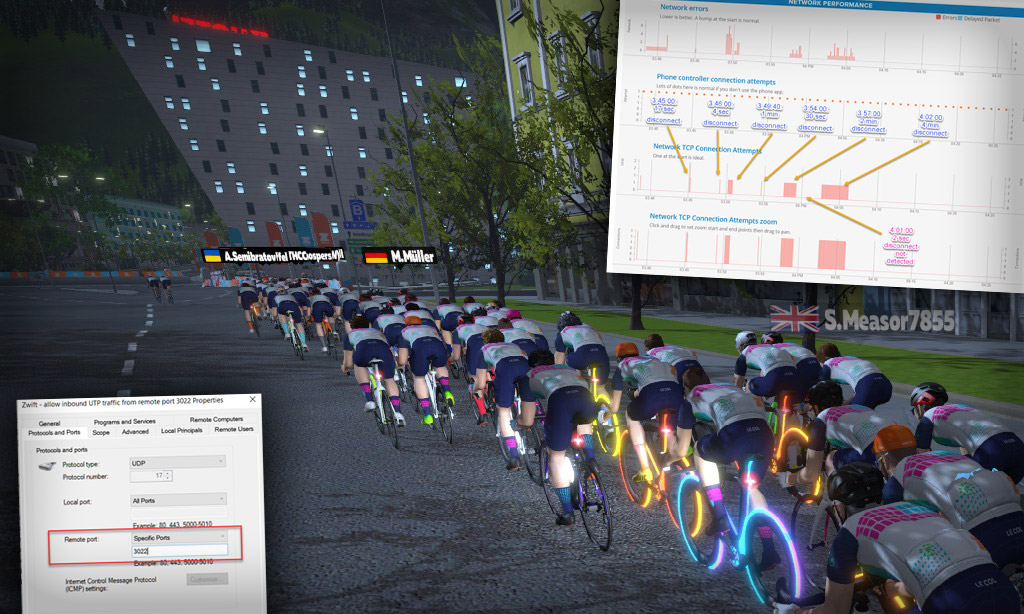 Nearby Zwifters Disappearing from the Screen – A Story of Zwift Troubleshooting