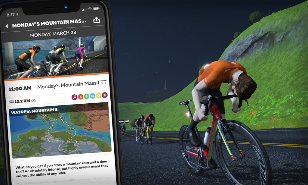Creating a Zwift Event (Monday's Mountain Massif TT – Monday March 29th)