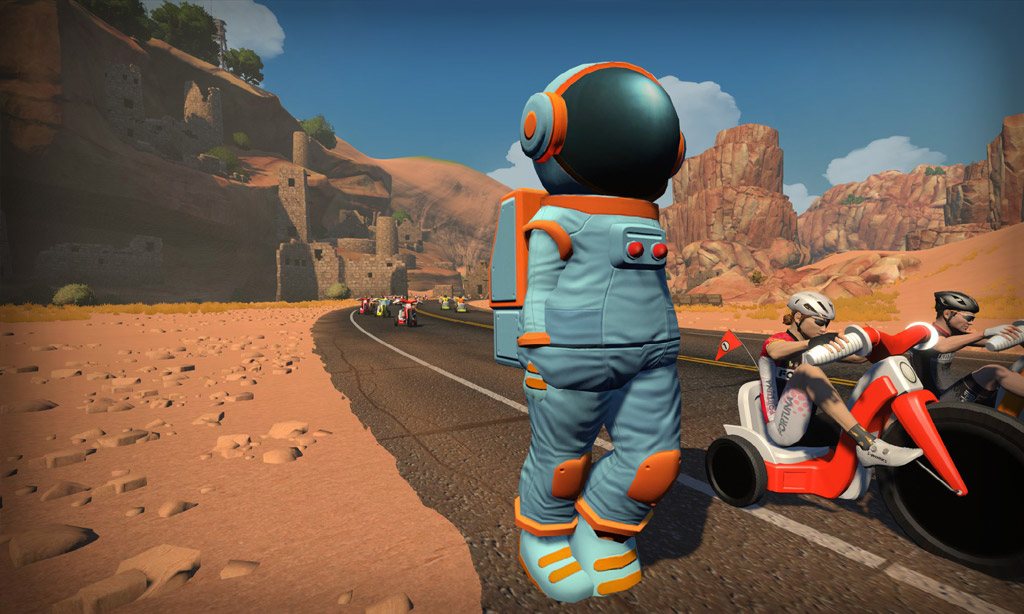 It's April Fools' Day on Zwift, and We're Big Wheelin'…