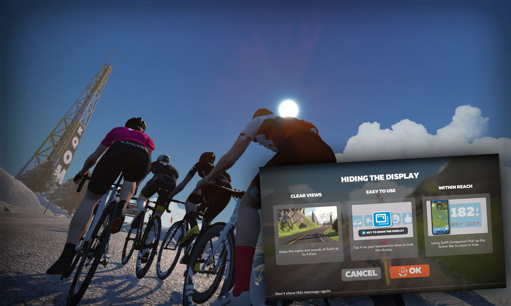 """Zwift Teases """"Hide the Display Mode"""""""