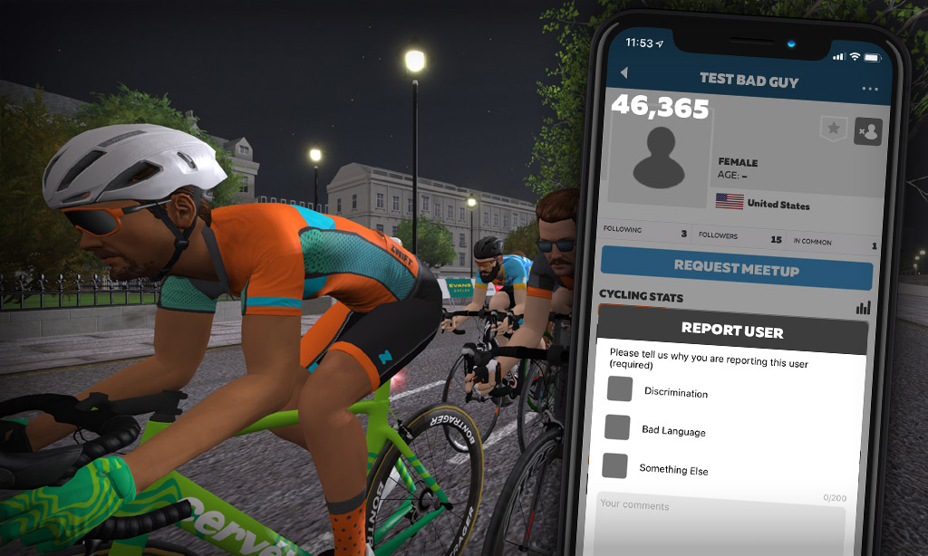 """Zwift Rolls Out Updated """"Report User"""" Feature"""