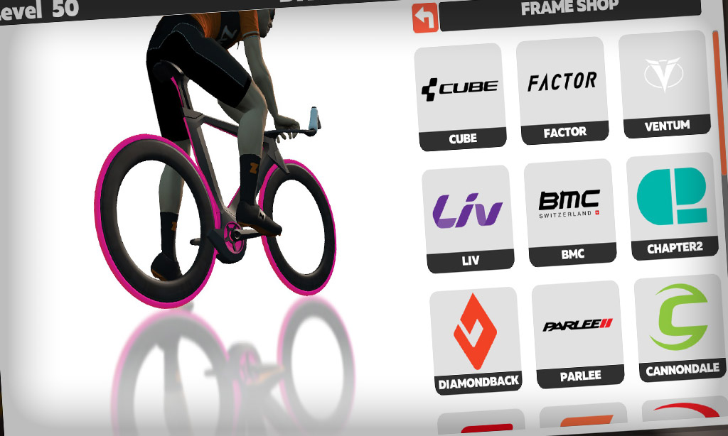 How to Purchase Bike Frames and Wheels from Zwift's Drop Shop