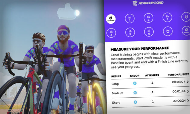 First Look: Completing a Zwift Academy Baseline Ride