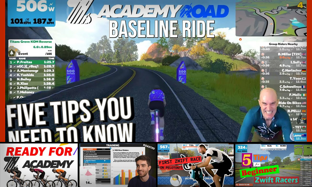 Top 5 Zwift Videos: Zwift Academy Workouts, Baseline Rides, and Beginner Racing