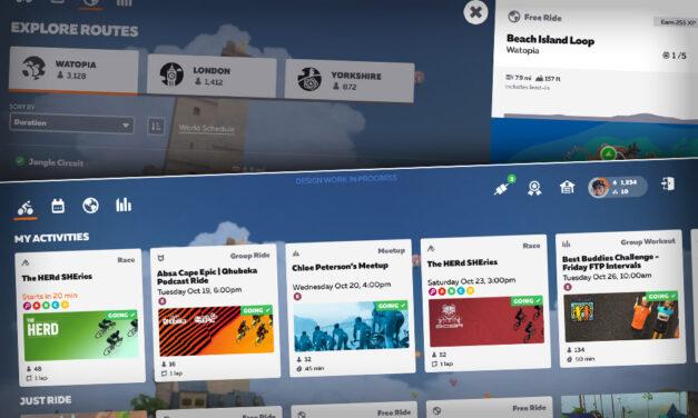 Sneak Peek: Zwift's Updated Homescreen
