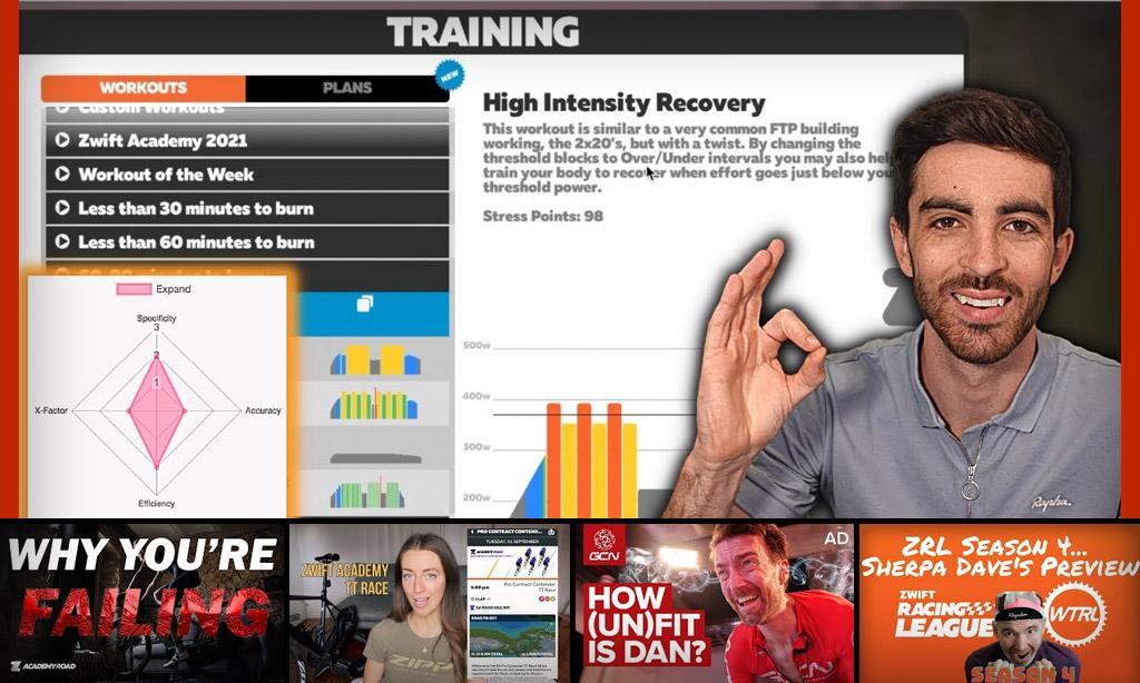 Top 5 Zwift Videos: Workouts, Zwift Academy, and TT Racing